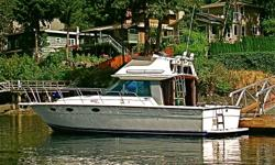 RARE FLYBRIDGE MODEL WITH ENCLOSED PILOTHOUSE/SALON. OPEN, WELL APPOINTED INTERIOR LAYOUT IN NEW CONDITION.EXTERIOR GELCOAT IN EXCELLENT COND. WELL MAINTAINED 454 CRUSADERS, MANY UPGRADES IN 2010, INCLUDING ELECTRONIC ENGINE CONTOLS, ESPAR FURNACE & HOT