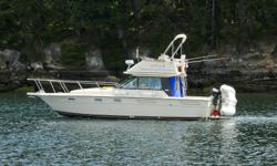 This is a gorgeous sporty vessel that has been very well maintained. Boathouse kept for a majority of its ownership. Just new on the market a 1986-33ft Tiara 3100 Pursuit with flybridge. Powered by inboard twin Crusaders 350, 350 hp each. Tiara's are