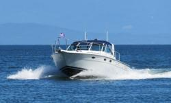Safari is a rare example of a diesel powered Tiara 3100 featuring a hard chine V-hull designed to enhance ride and performance. She cruises comfortably in the 20-22knot range. The boat has benefited from continual quality upgrades. Dimensions LOA: 33 ft