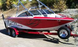 Surf and wakeboard all day with a 340HP V-Drive engine,folding tower, snap out speakers,swivel racks,bimini top,tower mirror,stereo,open bow, pop up cleats, ski pylon, tower docking light, towable cover, taps system, perfect pass, heater, built in cooler,