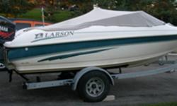 1999 186 SEI Larson Bow Rider complete with Yamaha V-MAX 150 2 stroke outboard with stainless prop, galvanized trailer, fenders, pfd's, lines, saftey equipment, water skiis, tube, ski rope. Boat also includes marine grade stereo and speakers, bimini part