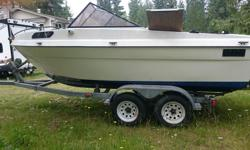 The boat is a 1978 19' K&C Thermoglass, an outstanding design that is built like a tank. When I got it, I gutted everything, the only thing left was fibreglass and rivets. I then fitted new stringers (fully bedded), new pressure-treated floors and