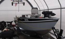 2010 ultracraft boat tilt steering 30 hp long shaft mercury 2 stroke with electric start collapsable tong side guide 3 swivelles seat 1 table 3 locker on casting deck with 1 lockable fishing rod locker and 1 livewell. 1 downrigger 1 fishfinder 1 gps front
