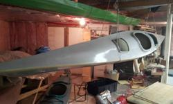 Unfinished fiberglass kayak 18 feet light
