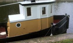 Unique  18 'Tug Boat 18 'Steel Tug Boat 2 cyl Volvo Diesel 6.5' wide $16.500