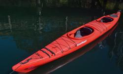 """Victoria Kayak is making way for the 2017 inventory! Now Selling: Current Designs """"Double Vision"""" Double Kayak with Rudder (2014 model year) - Red color. These Roto Molded kayaks are pretty much indestructible. You won't need to worry about beaching or"""