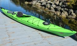 """Victoria Kayak is making way for the 2017 inventory! Now Selling: Wilderness Systems """"Tsunami 145"""" Single Kayak with Rudder (2014 model year) - Green color. These Roto Molded kayaks are pretty much indestructible. You won't need to worry about beaching or"""