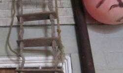 """VERY OLD BOAT ROPE LADDER 17 STEPS 15 OF THEM ARE 18"""" 2 OF THEM ARE 5' APROX 21"""" L PLEASE CHECK OUT MY OTHER ADS."""