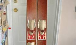 I have for sale a set of vintage wooden water skis. Perhaps you can use them or display them. If you want them, their yours for $15.00. Call me @ 519 759-5677.