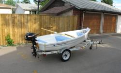 Walker Bay 10 Motor Mercury 4 stroke used one time only Standard Features * One piece HIMC hull * 6.5' Hydro Curve oars with detachable blades * Steelback oar locks and flush-mount sockets * Integrated motor/tiller mount * Wheel in the Keel? * Stainless