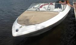 21 ft with a 5.oL Volvo penta with the sx cobra outdrive. Boat is in beautiful shape. Comes with tandem axel trailer, matching ropes, full cover and bimini top, two props (17 and 19 pitch), paddles and a couple life jackets. Has new cd/mp3 player with