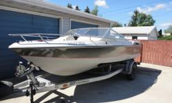 18' open bow with 3.7L mercruiser inboard. new interior this year. on galvanized trailer. good running boat.