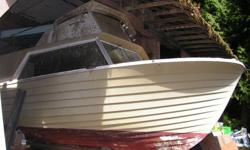 26' - 12 passenger crew-boat with bridge, head. built in flotation. Hull only, needs re-powering. $8,000 or make offer. 250-446-2600 or email; heritagehunt22@hotmail.com