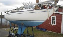 Sitting too long, but hull and deck in great shape; interior is rough yours for $3500 if you can get it off my driveway; sold as is for that price! Great 1/4 ton racer; sails great upwind, fast. Elfstrom design