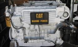 WHITE 2006 CAT C9 MARINE DIESEL ENGINE 50 HRS OF TESTING TIME ONLY. NOT REMANUFACTURED INCLUDES: CAT DIGITAL PANEL AND HARNESS, A ZF 280-1A TRANSMISSION GEAR MARINE 1.769 : 1 NO.3 SAE HOUSING CALL 778-788-7466 FOR MORE DETAILS AND TAKE A LOOK AT IT.