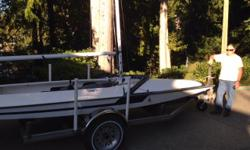 This a like new all fiberglass Y-flyer in immaculate condition, recently built and barely used. It sits on an all stainless steel trailer with alloy wheels. Full suite of North sails, mooring and trailer covers. The boat has been compounded, polished and