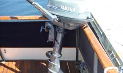 Excellent condition . Lightly used on dinghy for Grand Banks. tank included Recent service