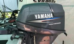2006 Yamaha 9.9 Long Shaft - high thrust 4 stroke motor with electric start in excellent condition.