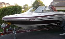 Great looking boat. This 2007 Tahoe Q4 model has style. The boat looks new. Engine has low hours. Boat has new summer and winter cover, new tires and bearings on trailer, new bimini top and a new battery.